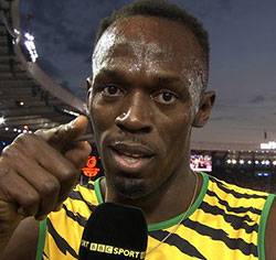 Usain Bolt wins 100 m gold to make Olympics history