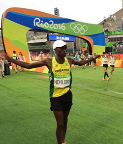 Zimbabwe's Ndhlovu finishes 41st in Olympic marathon