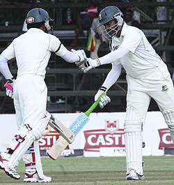 300 for 6 Bangladesh mount comeback  Great start … Jarvis delivers to Mushfiqur-Rahim at the stumps in Harare on Thursday