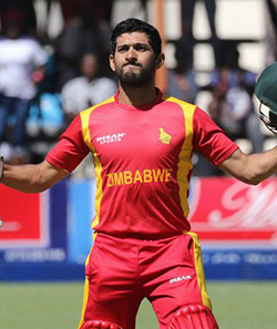 Zimbabwe get to 326 after Raza's defiant 80