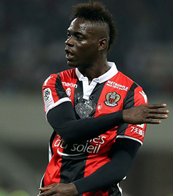 Nice says Balotelli booked for reacting to racist abuse