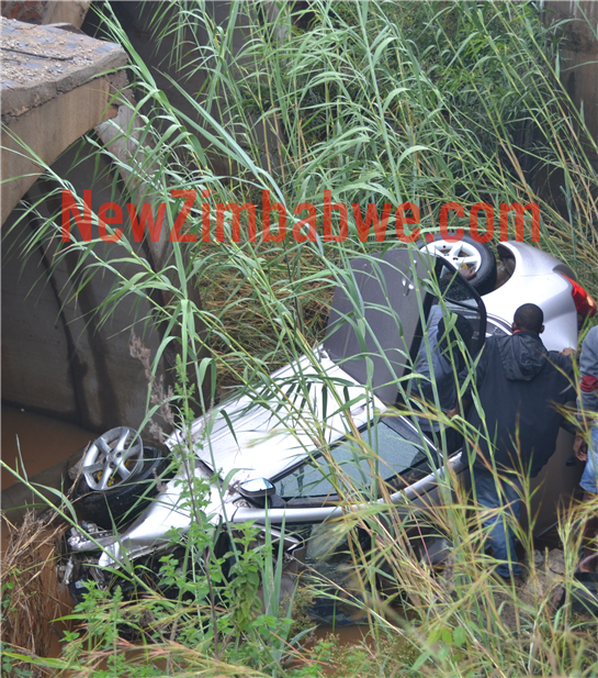 Three survive car plunge off bridge into river