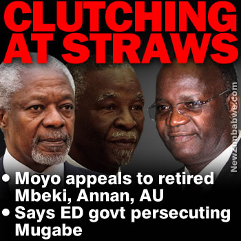 Moyo sends SOS to Mbeki et al, says junta persecuting ousted Mugabe