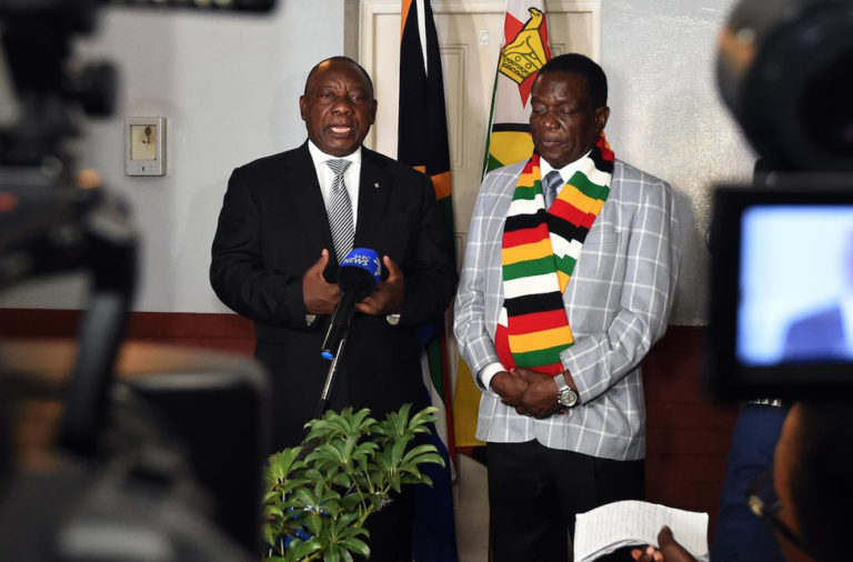 South Africa says 'confident Zim government will resolve situation'