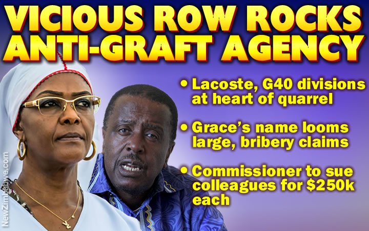 Corruption commission officials row over Grace Mugabe, Zanu PF factions