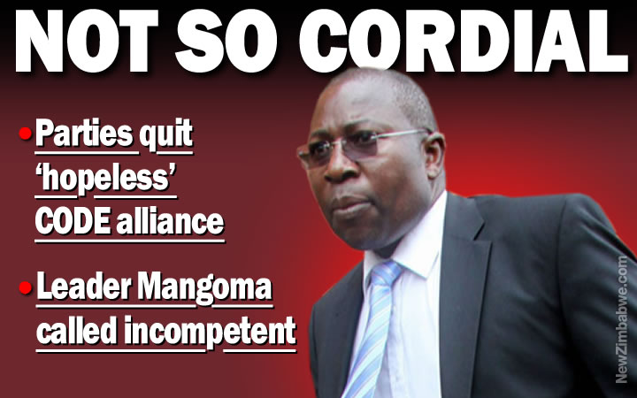 Mangoma defiant as his opposition coalition crumbles