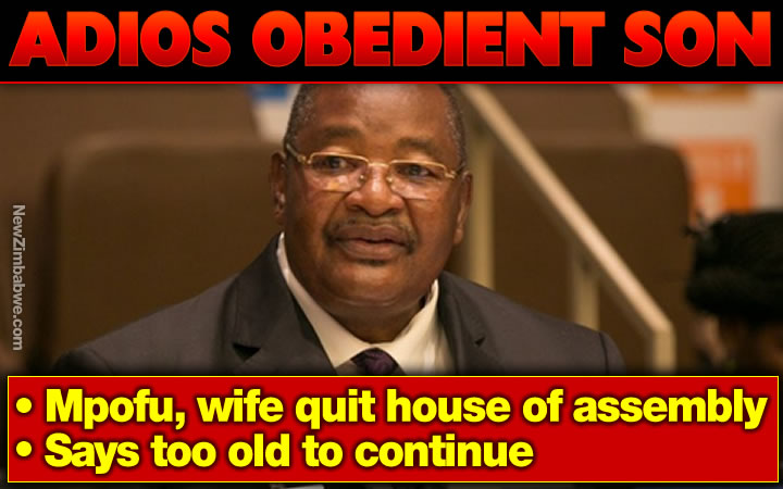 Obert Mpofu, wife quit House of Assembly