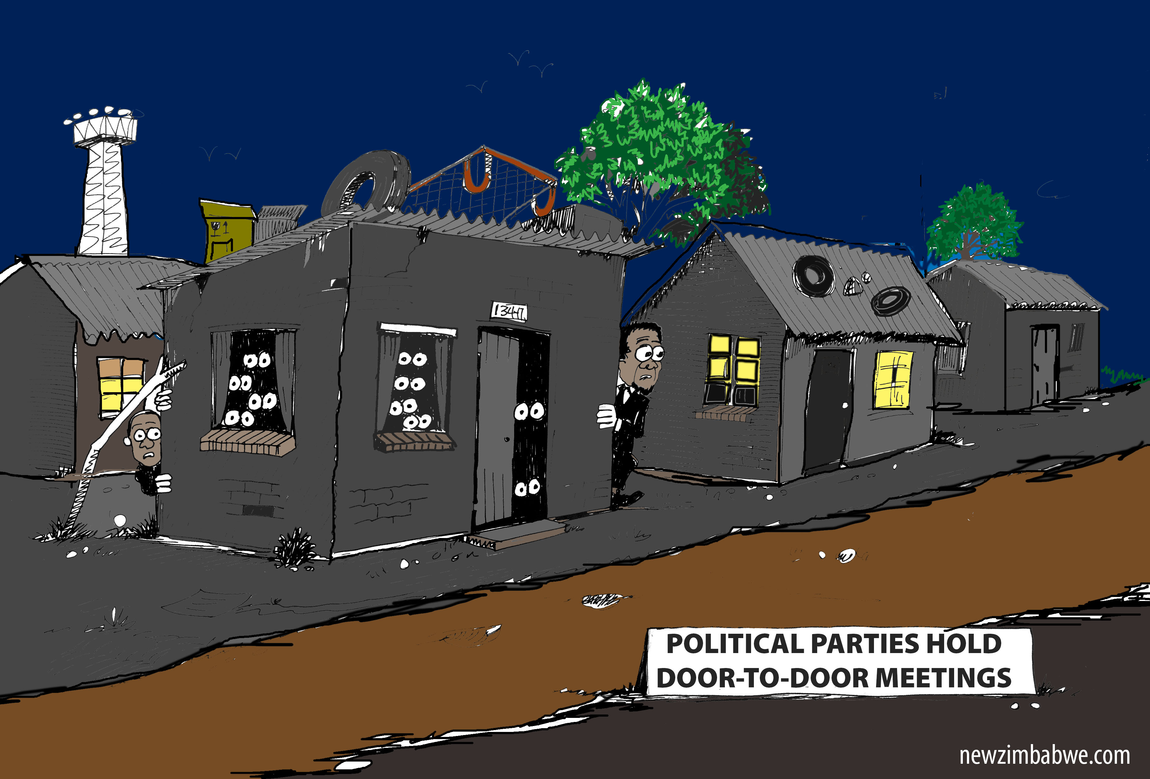 OF POLITCAL PARTIES AND SECRET DOOR TO DOOR MEETING