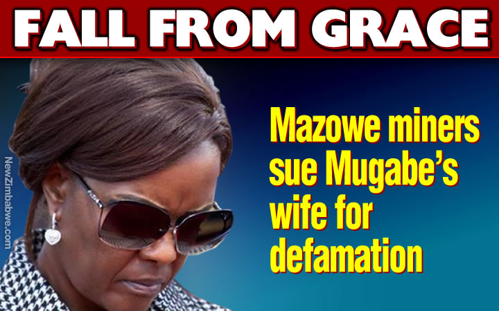 Smithfield Farm miners sue Grace Mugabe for defamation