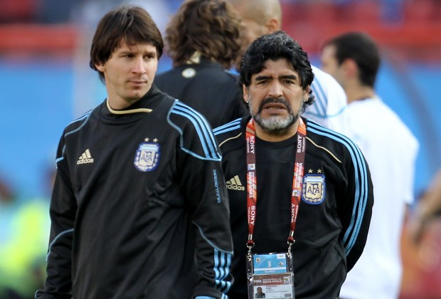 Senior coach says Messi must win World Cup to equal Maradona