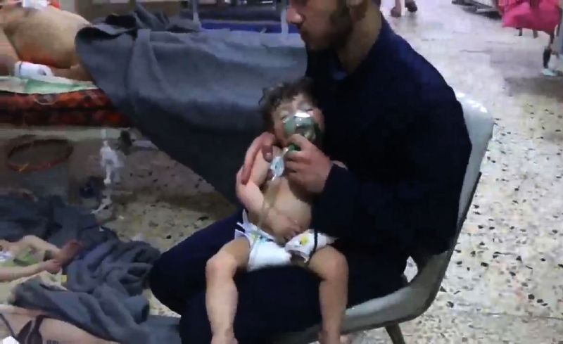 Trump warns of 'big price' after suspected Syria gas attack
