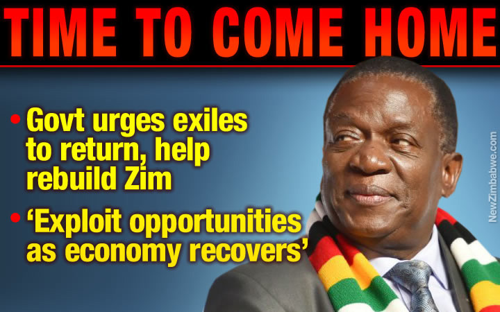 Zim government tells citizens in South Africa it's time to return home