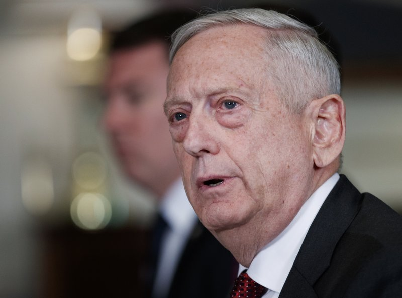 Defence secretary Mattis faults Russia on Syria, won't rule out US strike