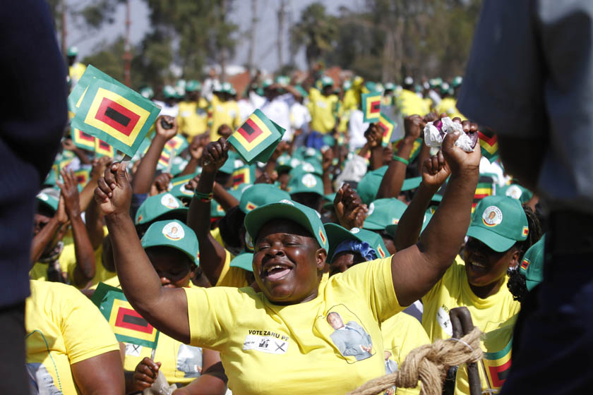 Zanu PF supporters in court for sitting on party MP's chair at a rally