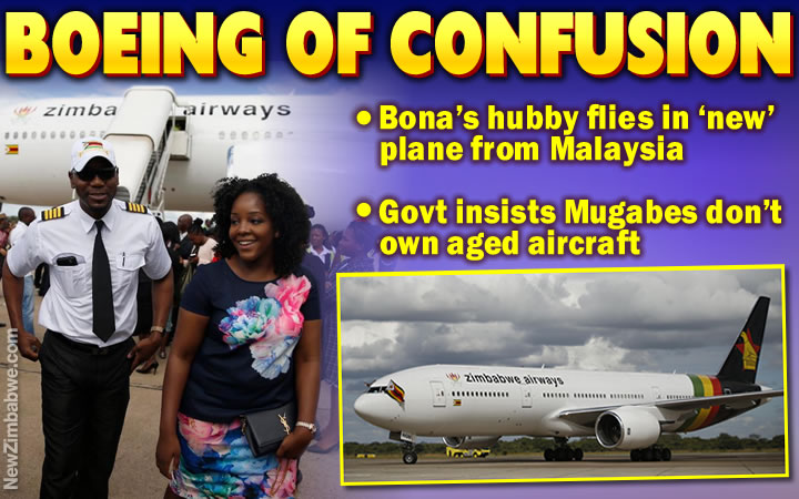 Bona's hubby flies new plane into Harare, but ministers adamant Mugabes don't own it