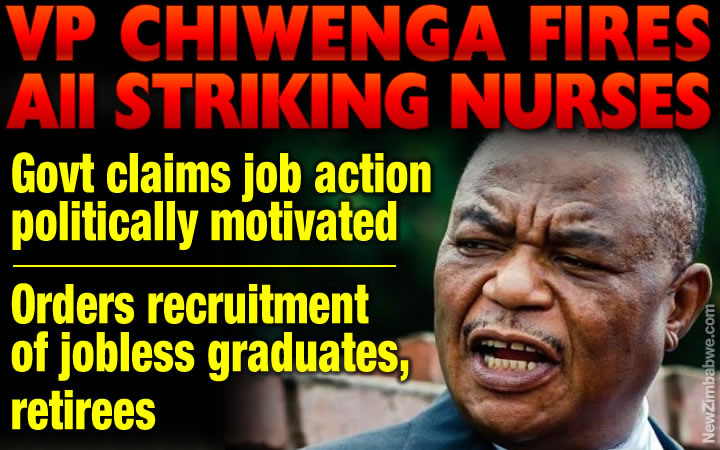 Government fires all striking nurses; claims crippling job action politically motivated