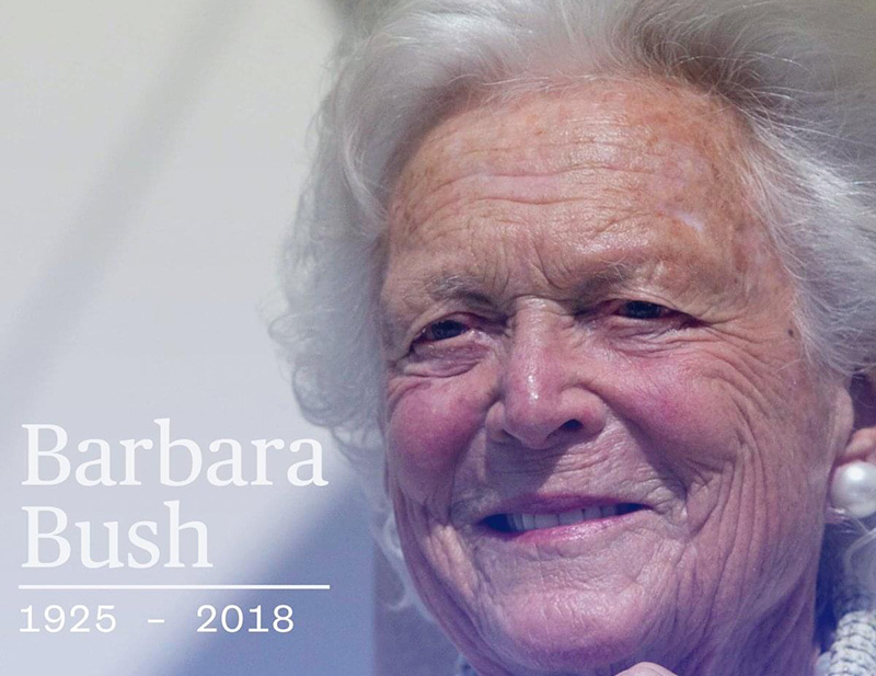 Hundreds attend as Barbara Bush laid to rest