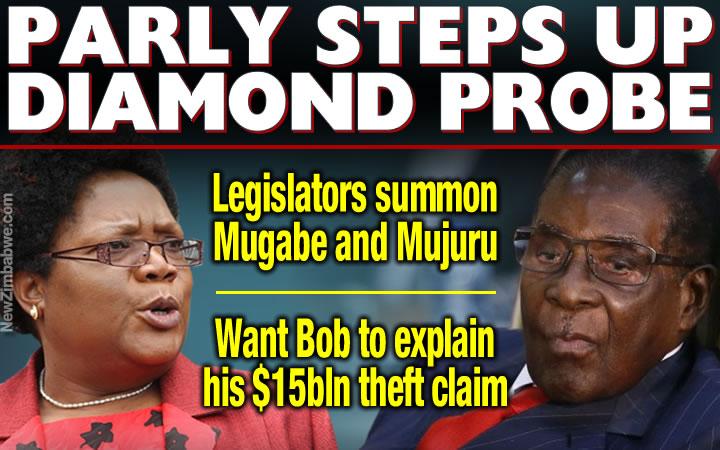 DIAMONDS: Mugabe, Mujuru parly grillingset for 9 May