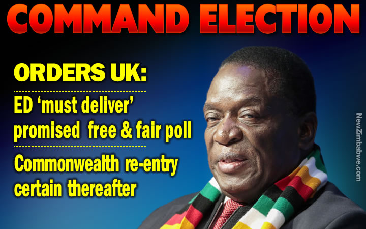 Mnangagwa 'must deliver free and fair elections he promised', declares Britain