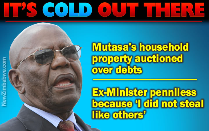 Mutasa's property auctioned over debts; says poor because he was not corrupt while in government