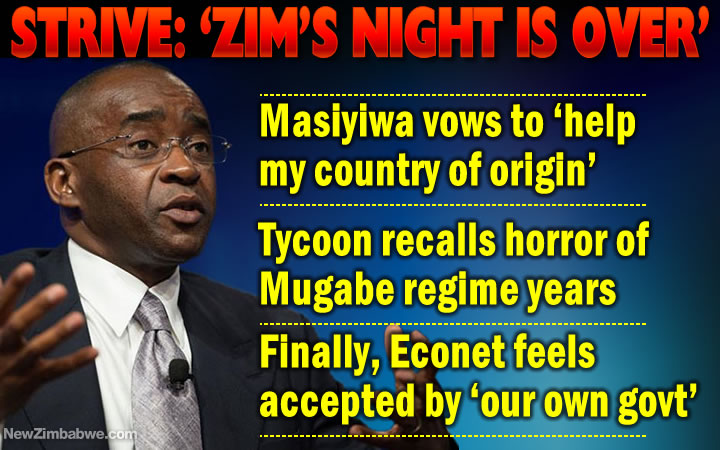 Masiyiwa says trailed by CIOs across the world; vows to 'leave no stone unturned to help my country'