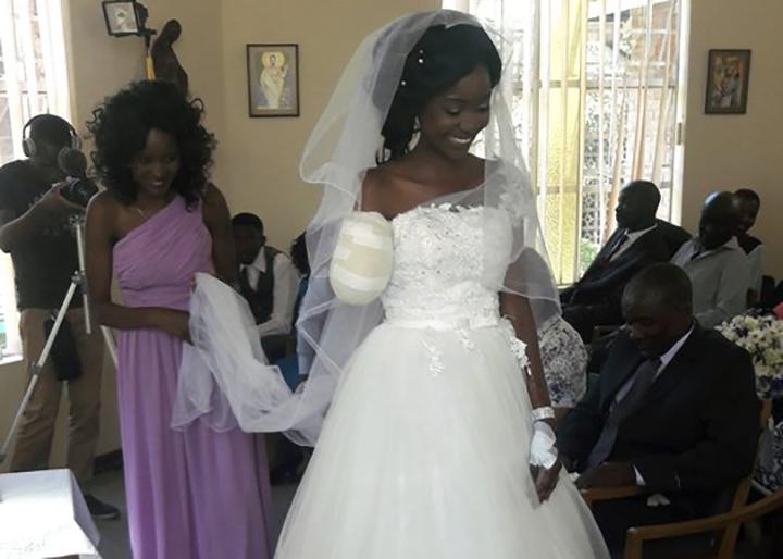 Zimbabwe couple weds after crocodile bites off bride's arm