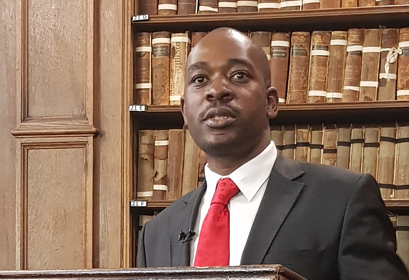 Chamisa: real change possible only 'when I become president'