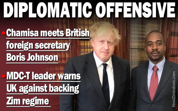 LONDON: Chamisa meets British foreign secretary
