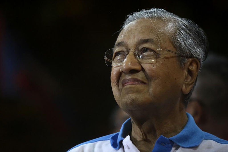 Malaysia's Mahathir sworn in as world's oldest leader after shock poll win