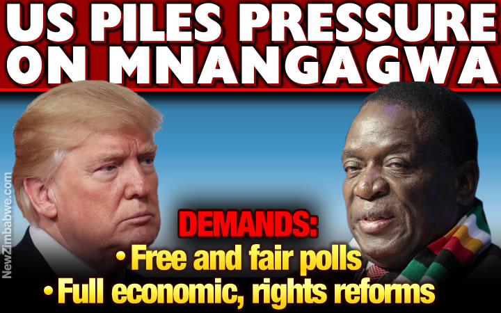 US says promises are not enough, Mnangagwa must walk the talk and fully implement reforms