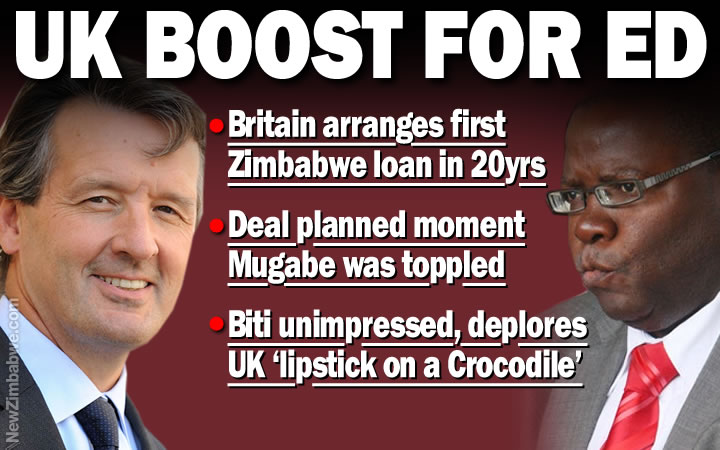 UK starts Zimbabwe lending with $100m facility, the first in 20 years; Opposition blasts move