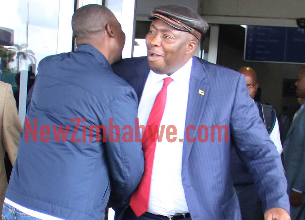 Kasukuwere returns home, questioned by State agents at airport