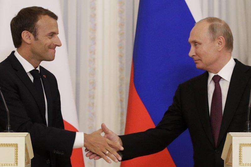 Macron hails 'frank' talks with Putin in Russia