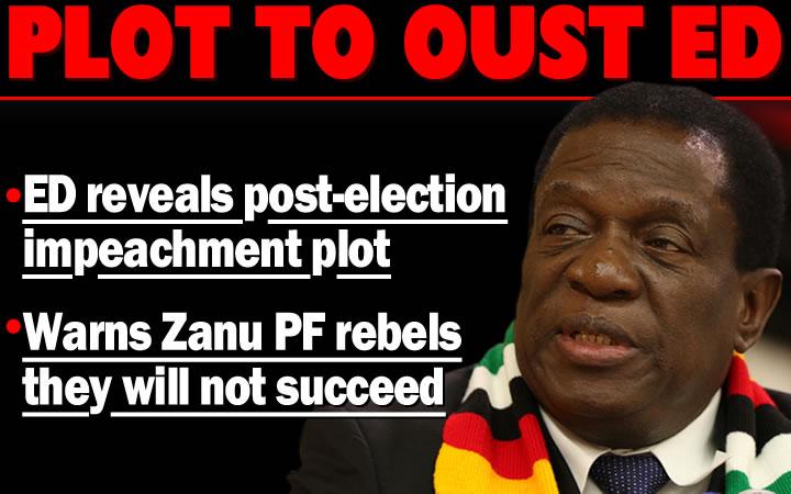 Mnangagwa says ready for July 30 showdown; warns Zanu PF impeachment plotters
