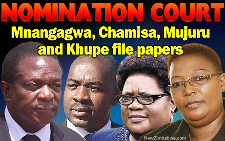 NOMINATION Court: Mnangagwa, Chamisa, Mujuru and Khupe file papers