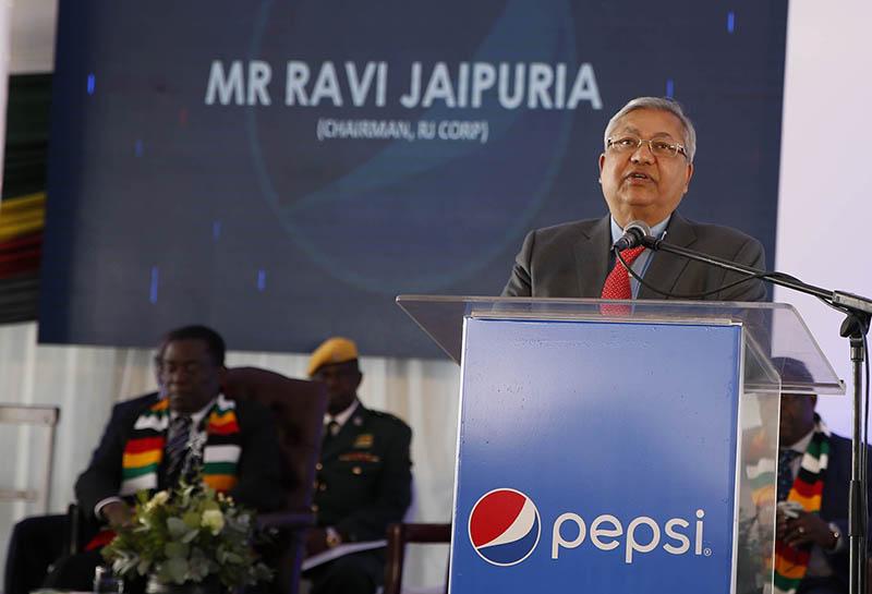 Mnangagwa commissions $30m Pepsi plant