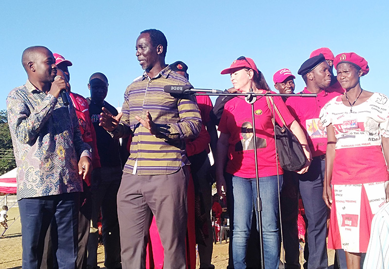 Chamisa 'breaks fall' as rally platform collapses