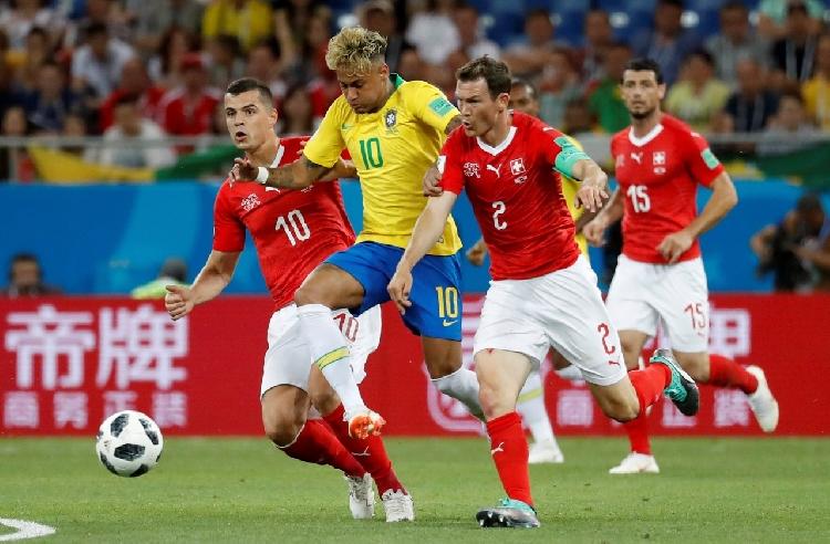 Profligate Brazil held by stubborn Switzerland