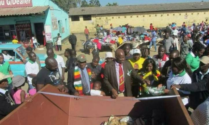 Zimbabweans lampoon Chinamasa for 'officially opening' a trash can