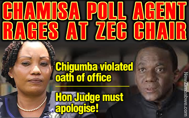 Chamisa Election Agent: ZEC's Justice Chigumba in violation of oath of office; must apologise
