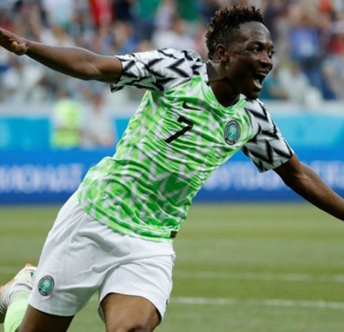 Nigeria's Ahmed Musa shortlisted for best goal of 2018 World Cup