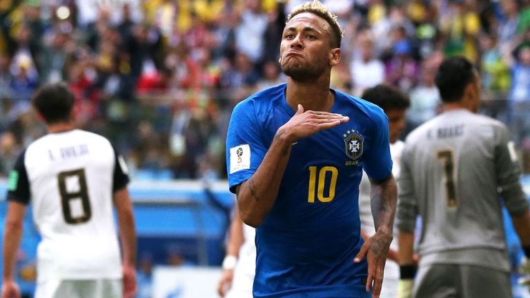 Neymar leaves it till late to ensure Brazil remain in contention for WC second round