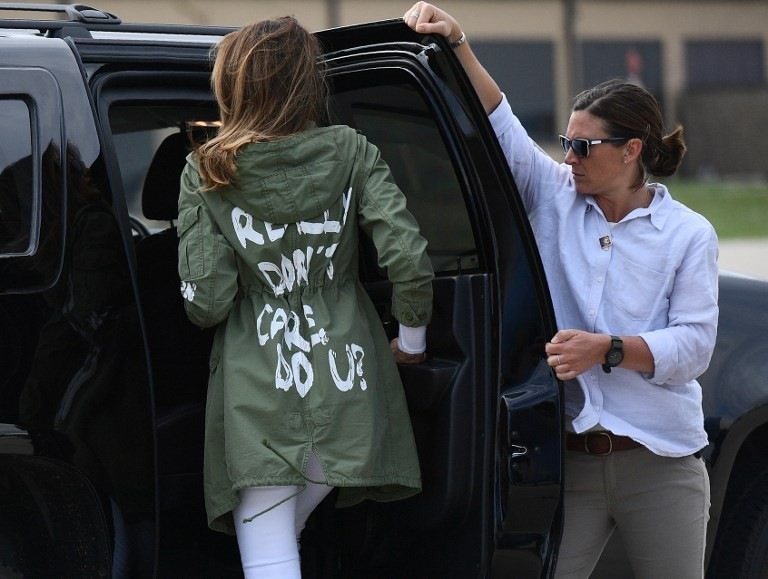 'I really don't care': Melania Trump jacket stuns on migrant visit