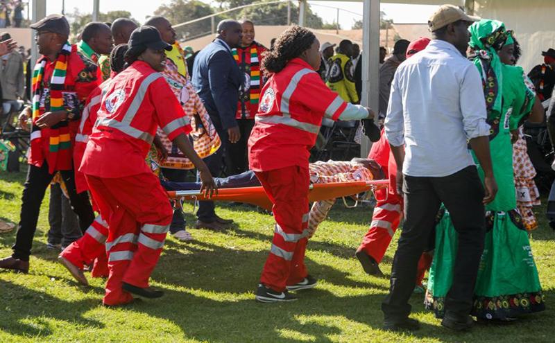 Mnangagwa reveals hand grenade caused rally blast
