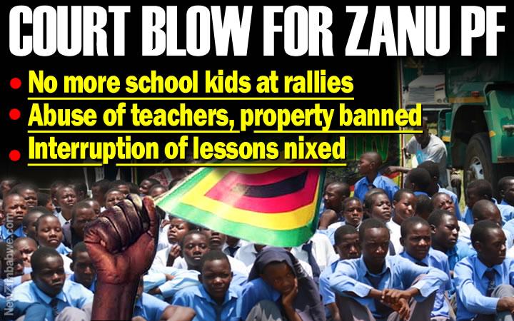 High Court bars Zanu PF from abusing school children during rallies