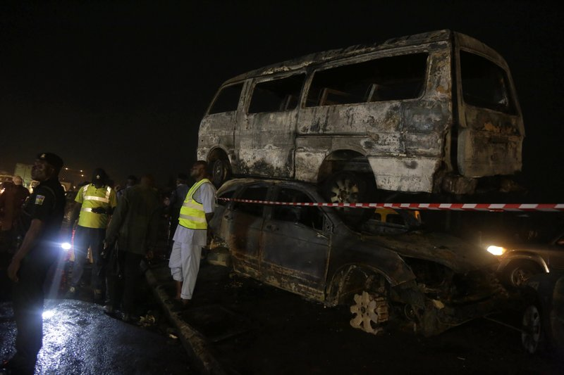 9 killed as oil-carrying truck crashes, burns in Nigeria