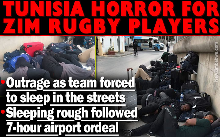 Outrage over Zim rugby treatment in Tunisia; players forced to sleep in the streets after being detained 7-hours at airport