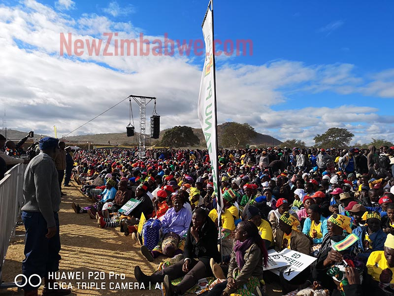 Mnangagwa takes campaign to Chipadze in Bindura; people beaten back as they tried to leave rally