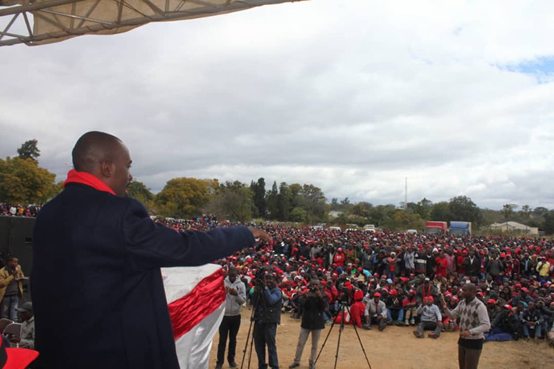 Thousands brave cold for Chamisa rally, Alliance leader in pledge to end tribalism