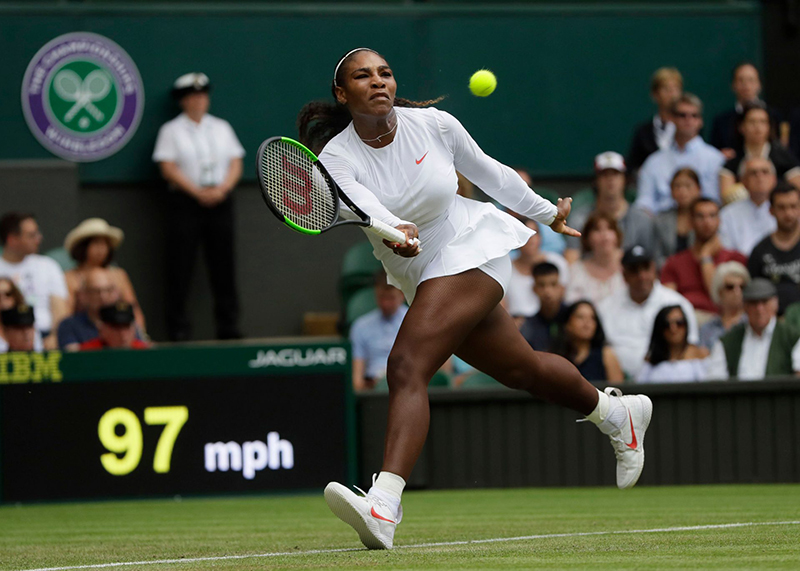 Serena survives scare to make 11th Wimbledon semi-final